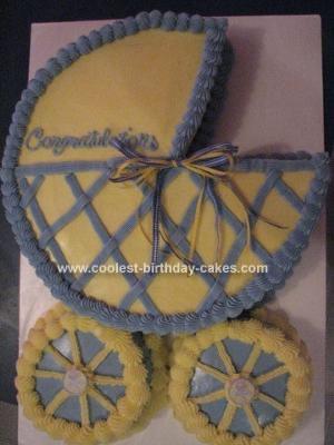 Homemade Baby Stroller Cake