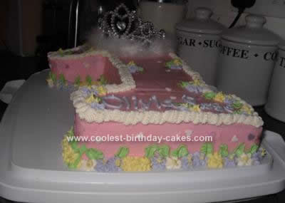 Homemade Baby's 1st Birthday Princess Cake