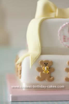 Homemade Baby's Christening Cake