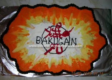 Homemade Bakugan Birthday Cake