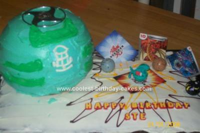 Homemade Bakugan Blast Cake
