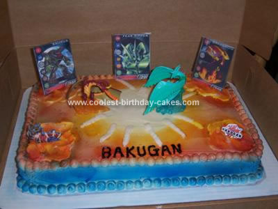 Homemade Birthday Cake on Homemade Bakugan Cake
