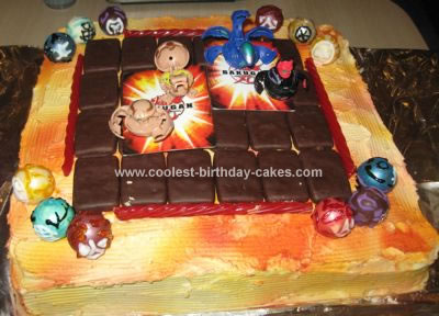 Homemade Bakugan Field Cake