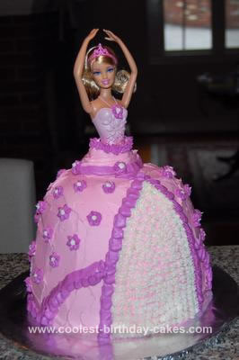 Homemade Ballerina Barbie Birthday Cake
