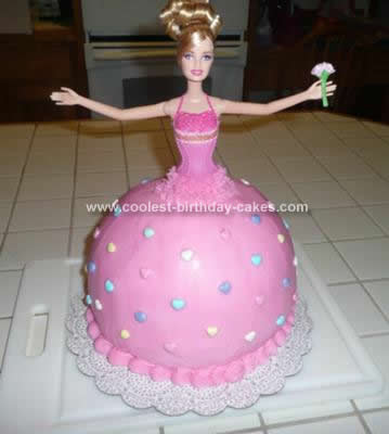 Homemade  Ballerina Barbie Cake