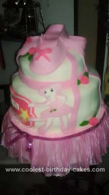Homemade Ballerina Cake