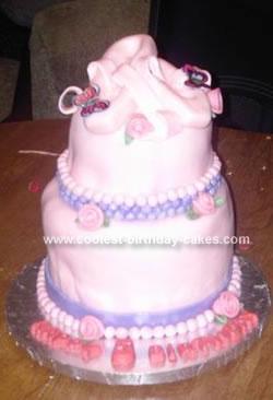 Ballet Birthday Cake, homemade cake