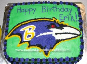 Homemade Baltimore Ravens Cake