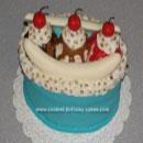 Banana Split Birthday Cakes