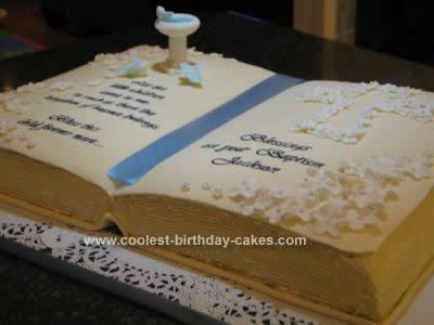Homemade Babtism Christening Cake