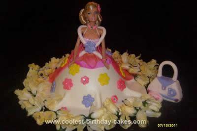 Homemade Barbie 2nd Birthday Cake