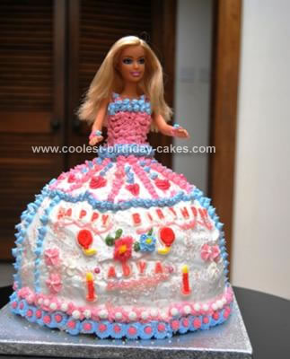 Homemade Barbie 9th Birthday Cake