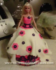 Homemade Barbie Birthday Dress Cake