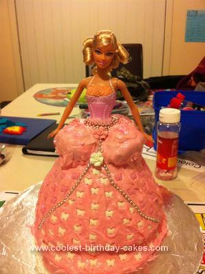 Homemade Barbie Bustle Cake