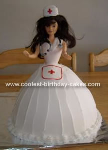 Barbie Nurse Cake