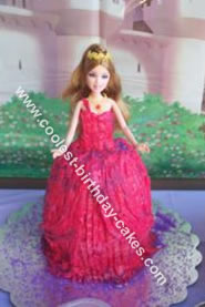 Barbie Castle Doll Cake