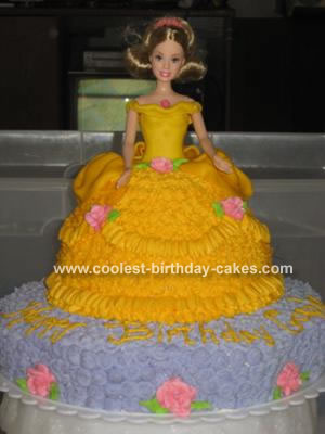 Yellow Gowned Barbie Cake