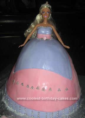 Homemade Barbie Cake Design