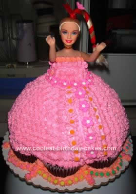 Homemade Barbie Cake Design