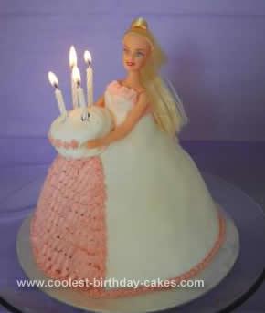 Homemade Barbie Doll 4th Birthday Cake