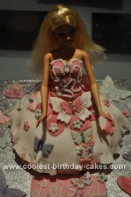 Homemade Barbie Doll 4th Birthday Cake