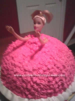Homemade Barbie Doll Birthday Cake