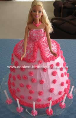 Homemade Barbie Doll Birthday Cake Design
