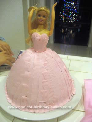 Homemade Barbie Doll Birthday Cake Idea