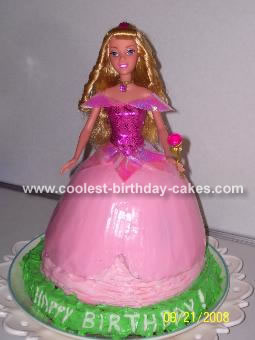 Sleeping Beauty Barbie Doll Cake