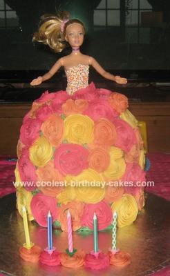 Homemade Barbie Doll Cake