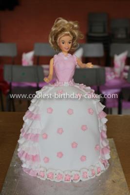 Barbie Doll Homemade Cake
