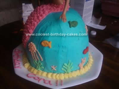 Homemade Barbie Doll Mermaid Cake