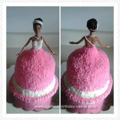 Homemade Barbie Dress Cake