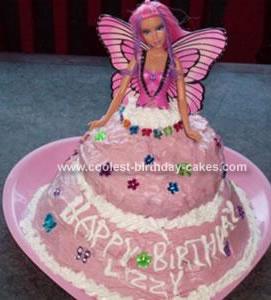 Homemade Barbie Fairy Cake