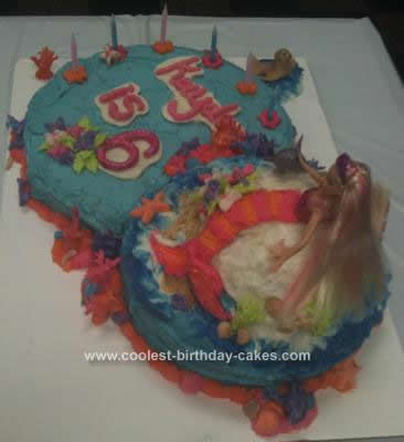 Birthday Party Decor on Coolest Barbie Mermaid Birthday Cake 125