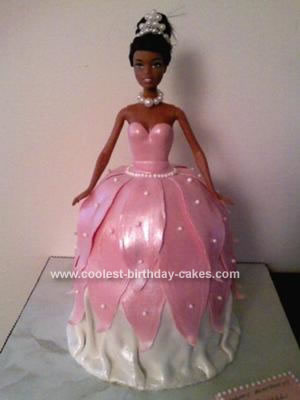 Homemade Barbie Princess Birthday Cake