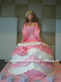 Homemade Barbie Princess Cake