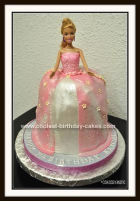 Homemade  Barbie Princess Cake