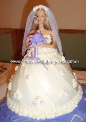 Coolest Barbie Skirt Bridal Shower Cake