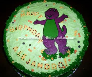 Barney Birthday Cake on Barney Cake Images