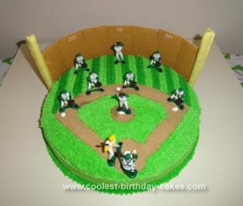 Homemade Baseball Birthday Cake