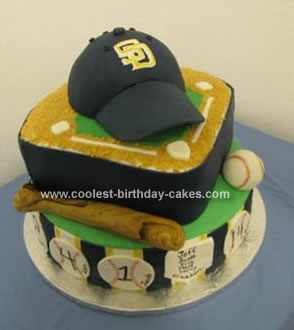 Homemade Baseball Cake