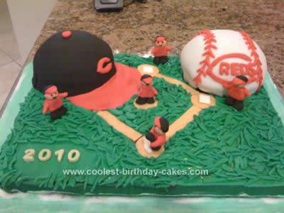 Homemade Baseball Cake