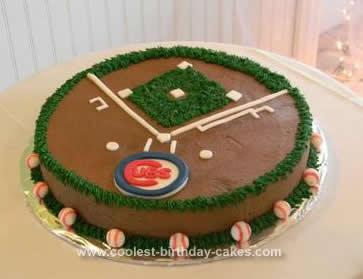 Baseball Birthday Cake on Homemade Baseball Diamond Birthday Cake
