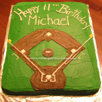 Baseball Birthday Cake on Coolest Baseball Field Birthday Cake 67