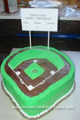 Homemade Baseball Field Cake