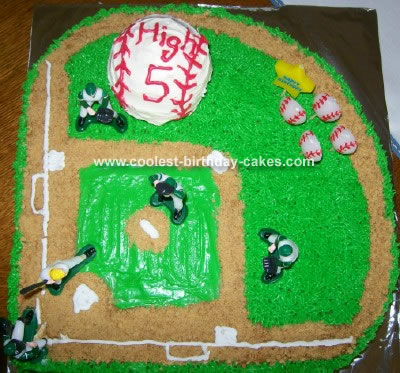 Baseball Birthday Cake on Coolest Baseball Field Cake 41