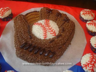 Homemade Baseball Glove Cake