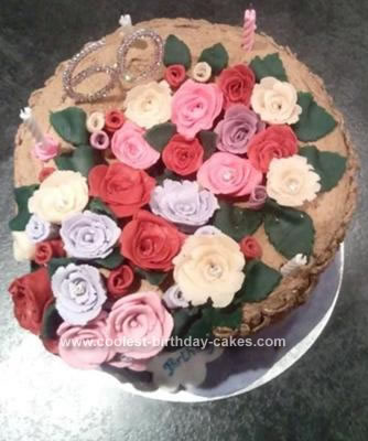 Homemade Basket of Roses