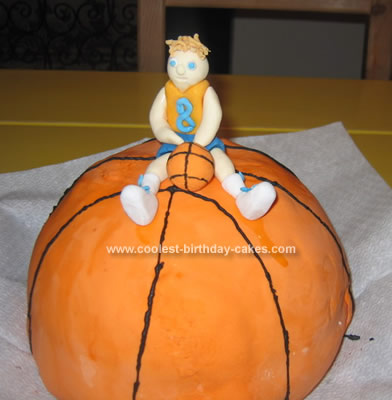 Homemade Basketball Birthday Cake